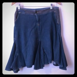 Vintage Streetwear Denim Skirt by Akademiks